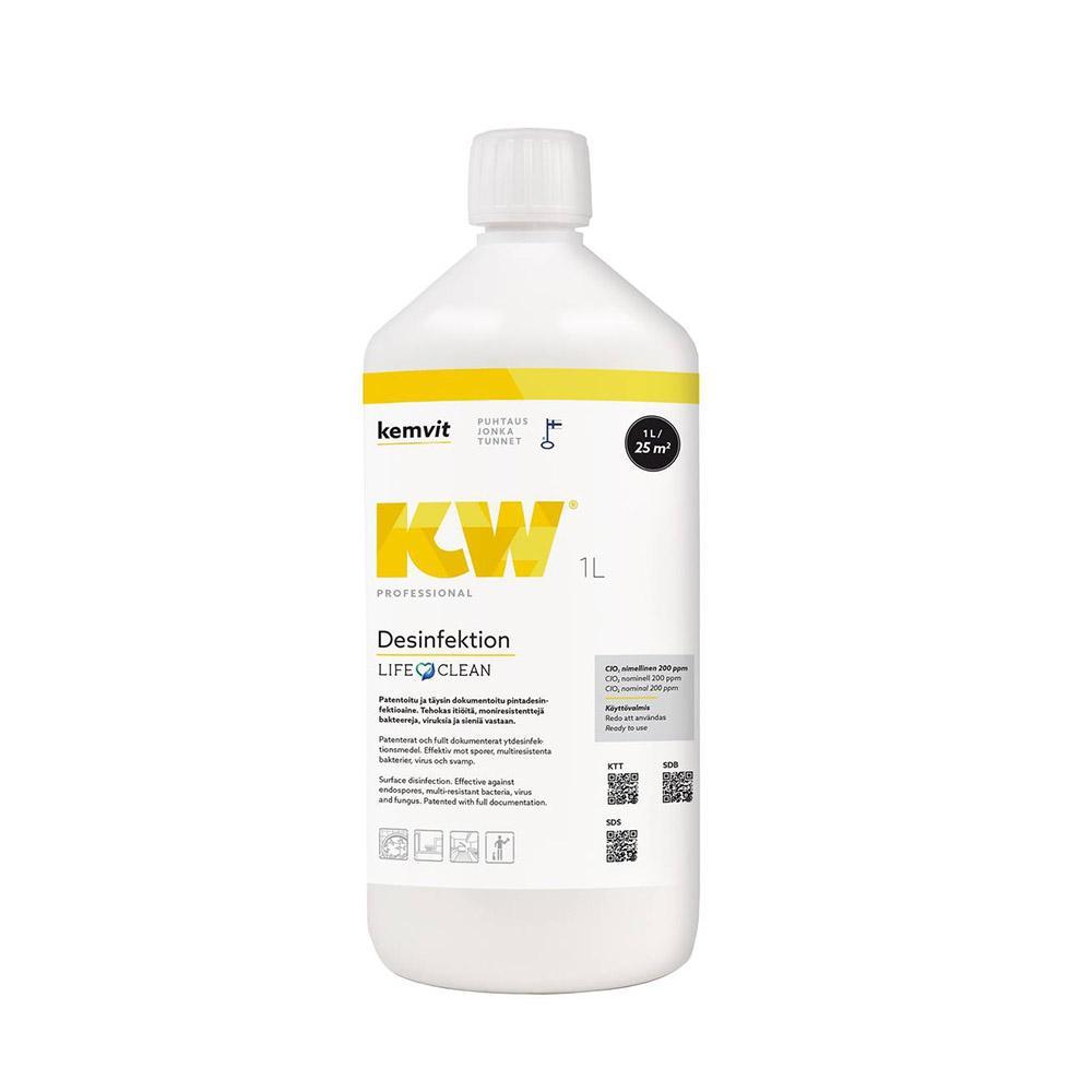 KW Desinfektion 1L, pintadesinfektioaine LifeClean