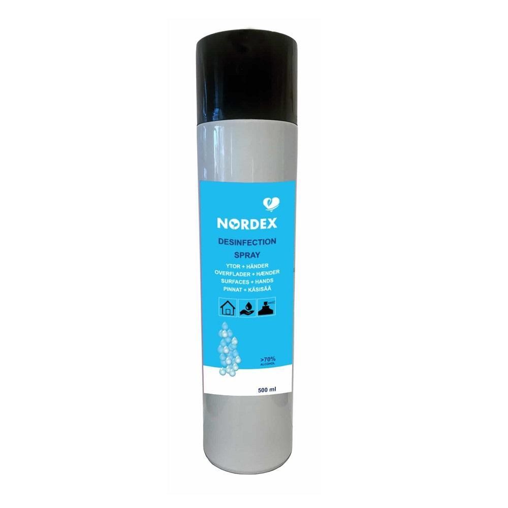 Nordex Desinfiointispray 500ml pinnalle ja käsille